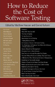 How to Reduce the Cost of Testing Book Image